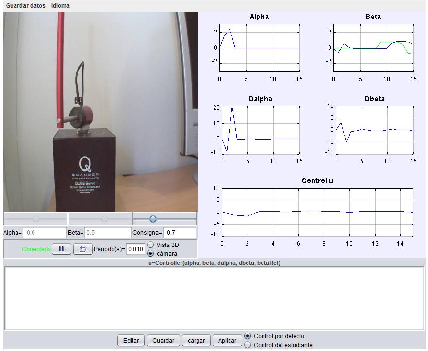 Furuta Pendulum Remote Lab