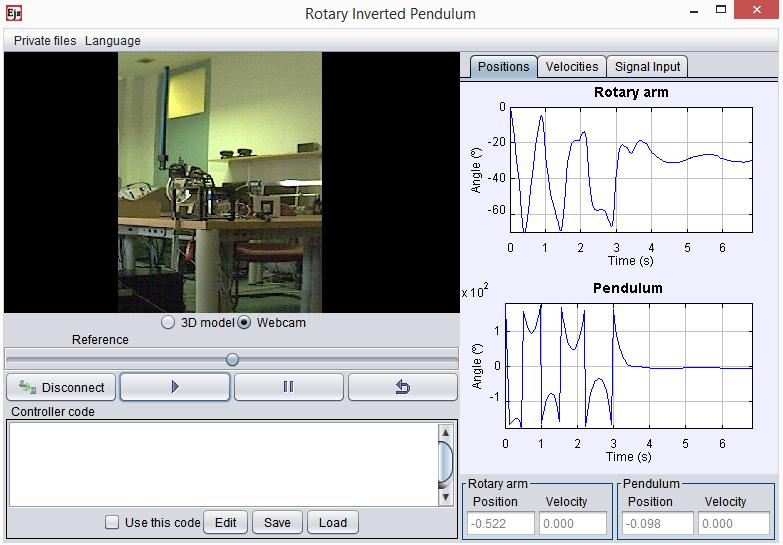 Inverted Pendulum Remote Lab