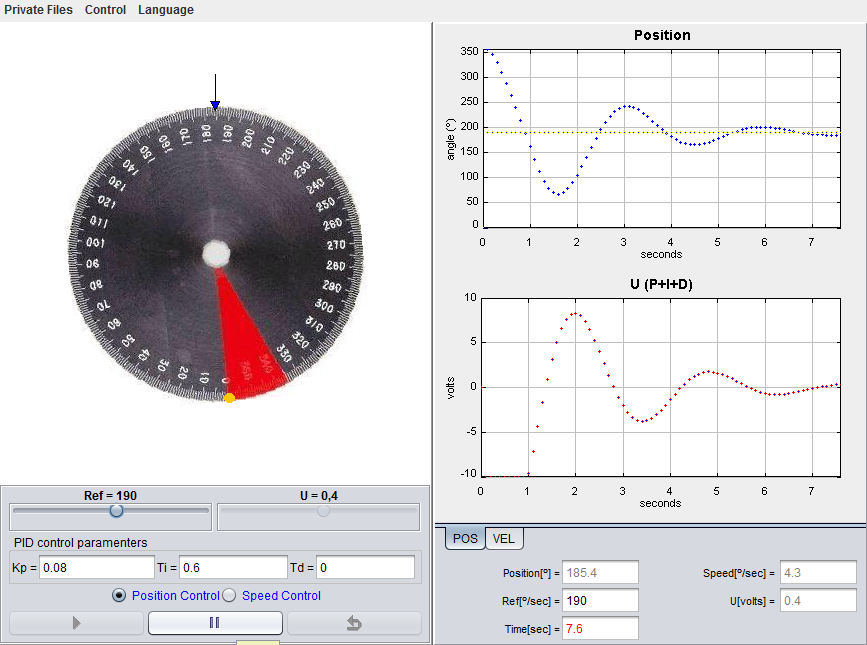 Servo-motor Virtual Lab